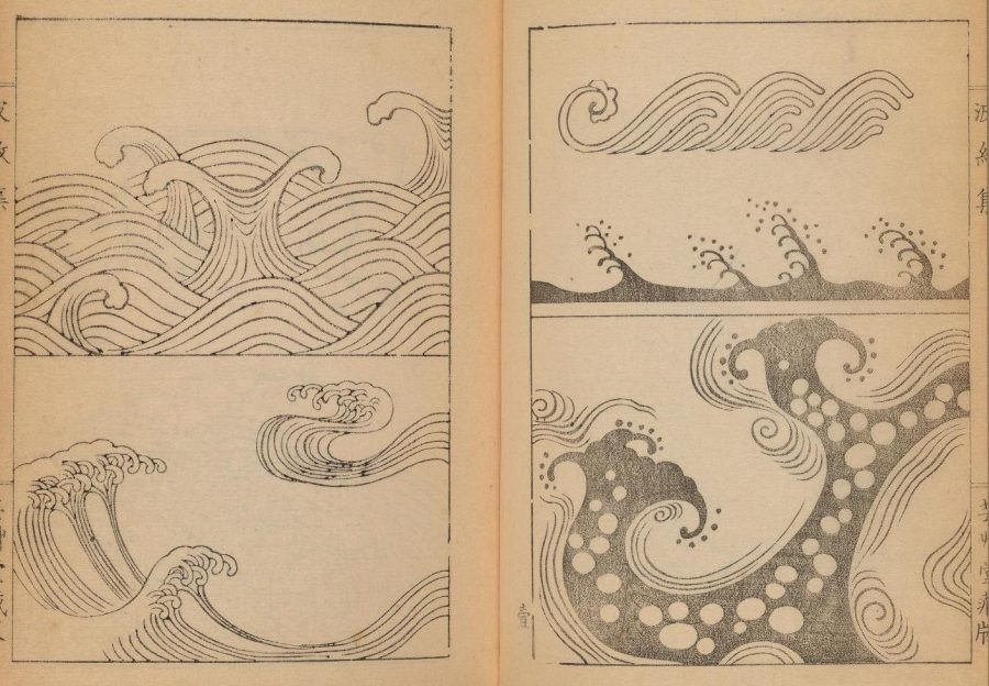 Download Classic Japanese Wave and Ripple Designs: A Go-to Guide for Japanese Artists from 1903