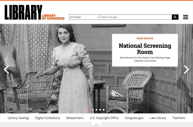 The Library of Congress Launches the National Screening Room, Putting Online Hundreds of Historic Films