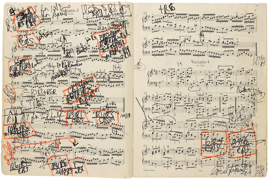 Glenn Gould's Heavily Marked-Up Score for the Goldberg Variations Surfaces, Letting Us Look Inside His Creative Process