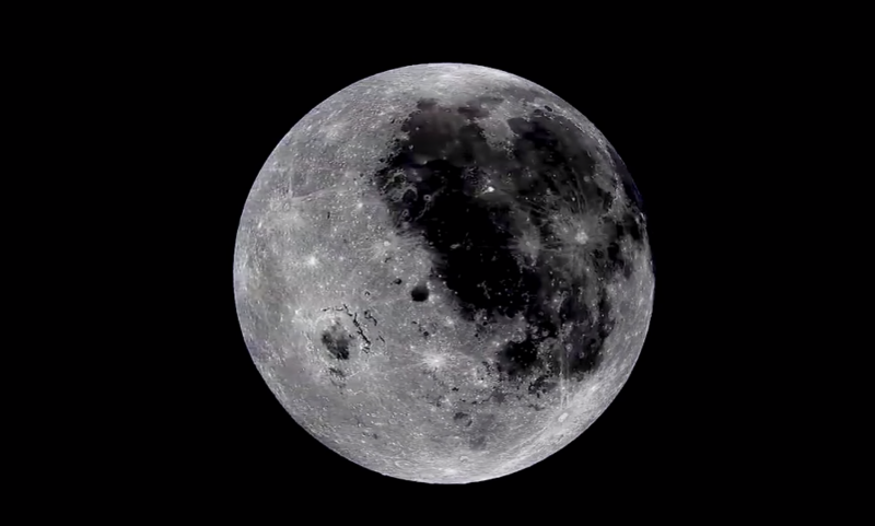 The Full Rotation of the Moon: A Beautiful, High Resolution Time Lapse Film