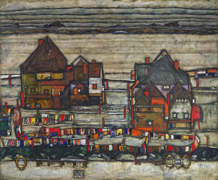 New Digital Archive Will Feature the Complete Works of Egon Schiele: Start with 419 Paintings, Drawings & Sculptures Artes & contextos egon schiele   houses with laundry  seeburg ha user mit bunter wa sche 1914 pc e1545638938722
