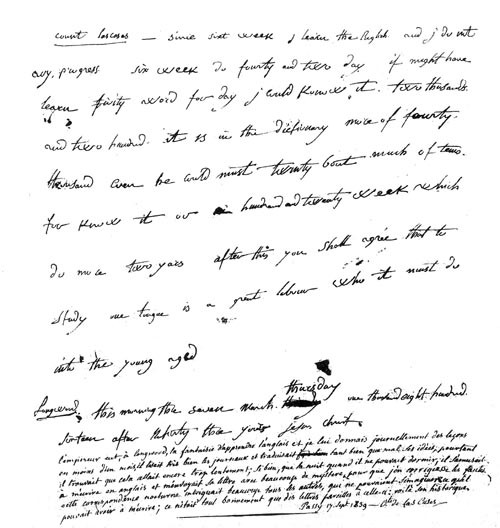 in one letter that survives from march 7 1816 see it scanned above written for las cases to correct the following day napoleon takes stock of his