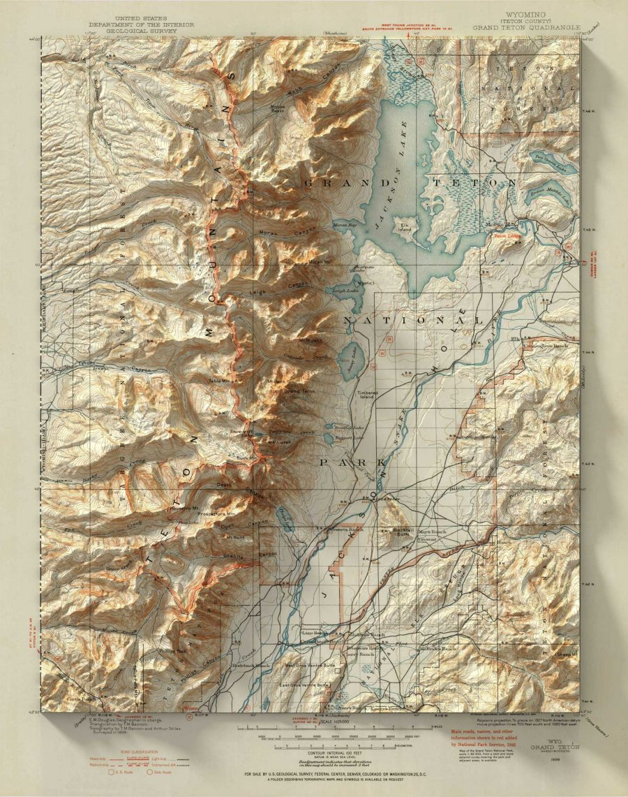 Vintage Geological Maps Get Turned Into 3D Topographical Wonders