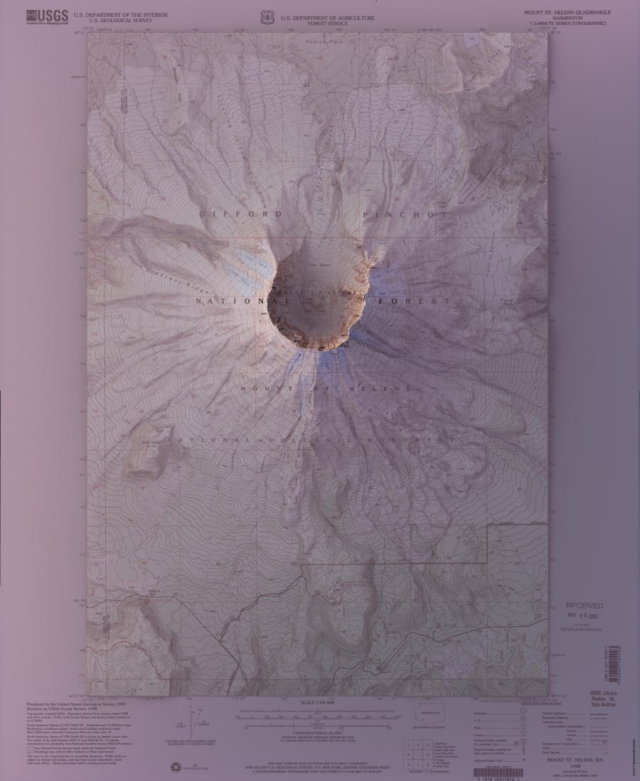 Vintage Geological Maps Get Turned Into 3D Topographical ... on