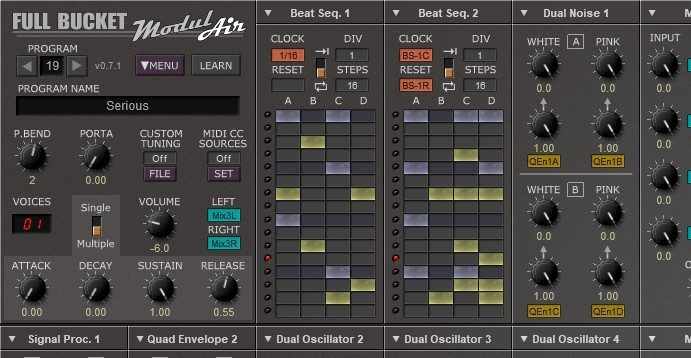 Download the ModulAir, a Free Polyphonic Synthesizer, and