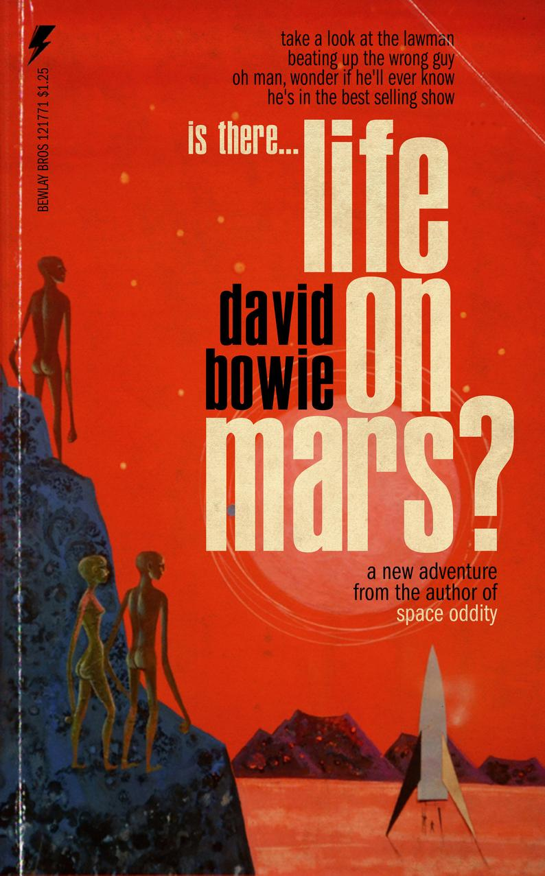 David Bowie Songs Reimagined as Pulp Fiction Book Covers: Space