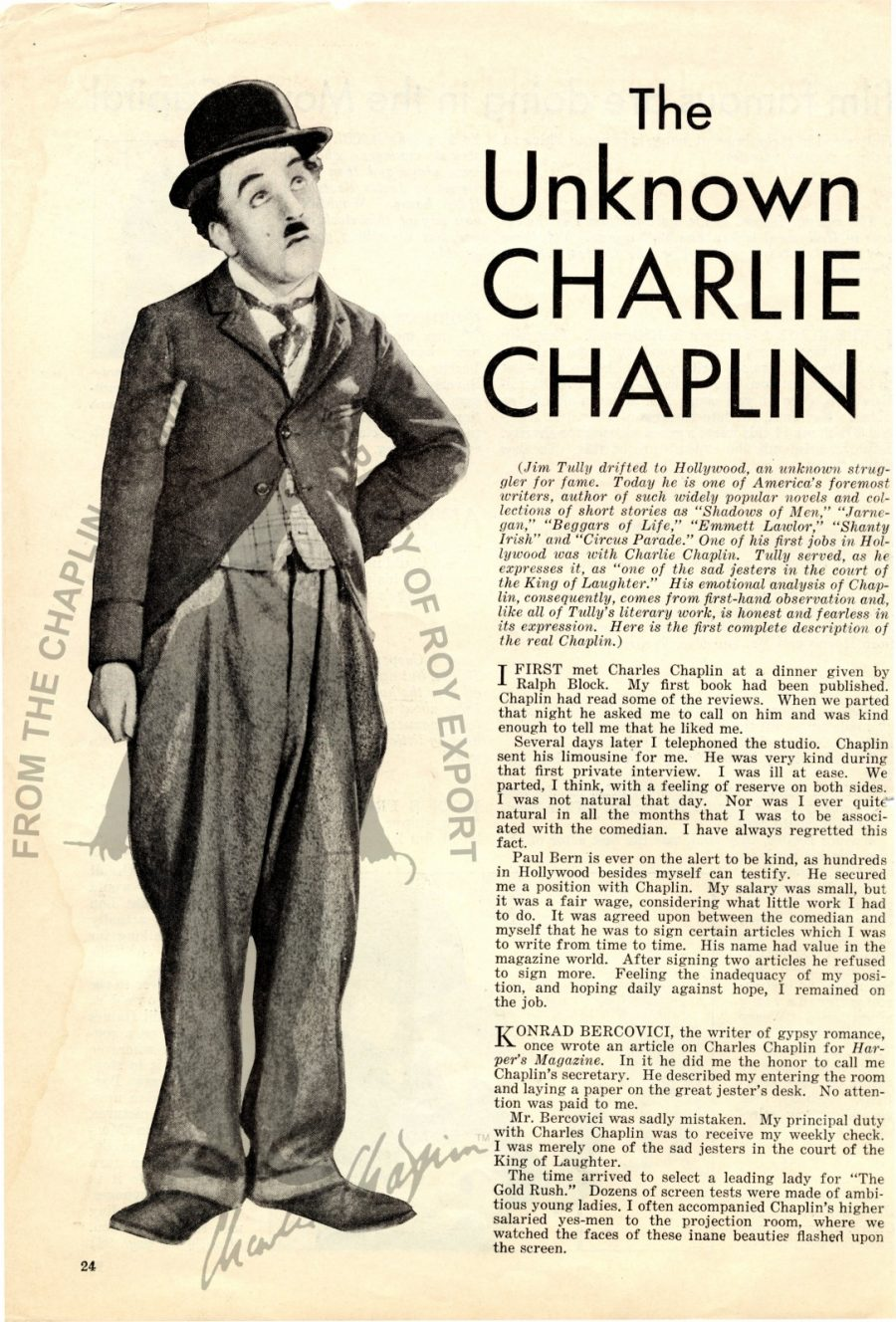 The Charlie Chaplin Archive Opens Putting Online 30000
