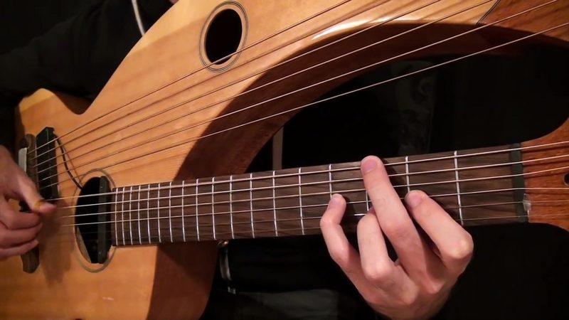 Pink Floyd Songs Played Splendidly on a Harp Guitar