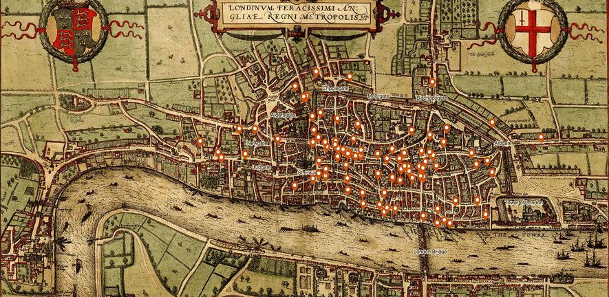 Map Of London And Surrounding Suburbs.New Interactive Murder Map Reveals The Meanest Streets Of Medieval