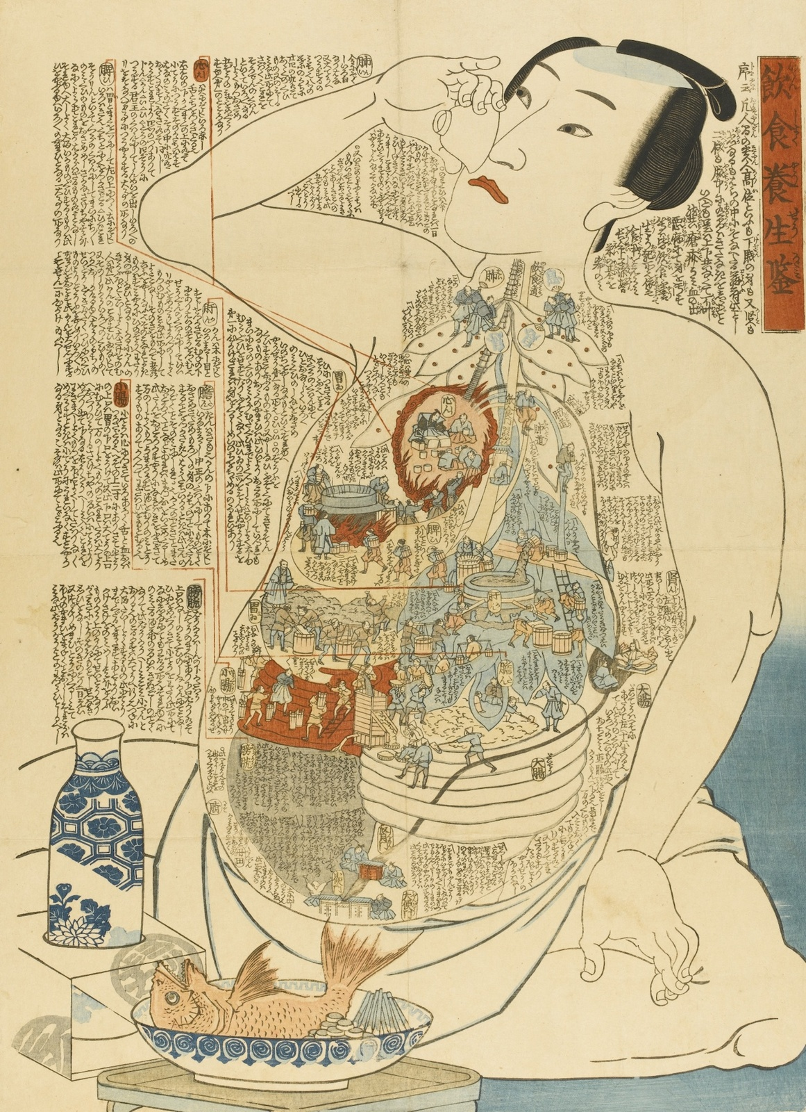 19th Century Japanese Woodblock Prints Creatively Illustrate The Inner Workings Of The Human Body Open Culture