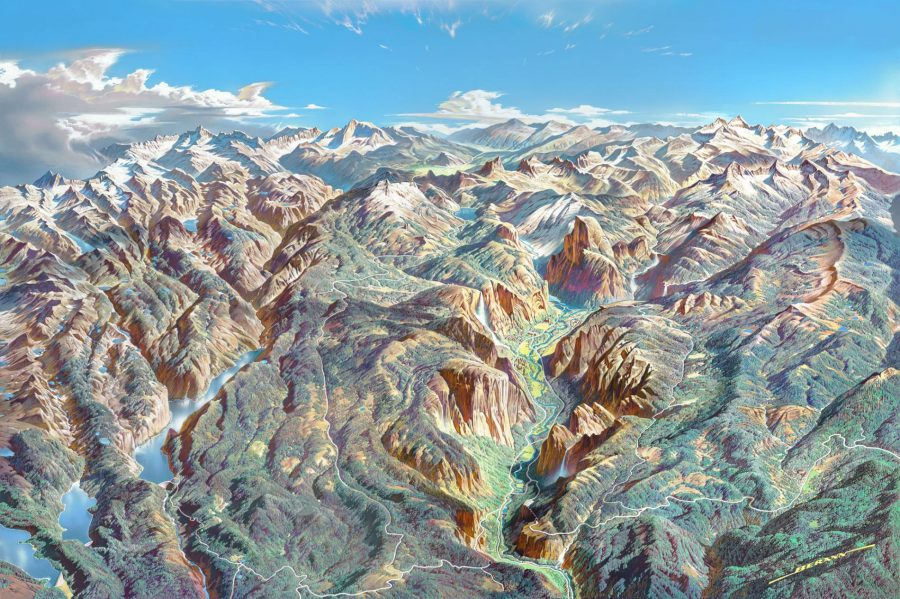 Download Beautiful Panoramic Paintings of U.S. National ...