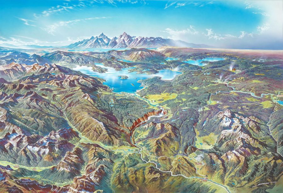 Download Beautiful Panoramic Paintings of U.S. National ... on naptional parks map, yellowstone on us map, louisiana forests parks map, us national parks tour map, the national map, us deserts map, glacier national park us map, colorado national monument map, parks canada and us map, national park system map, national geographic us map, hawaiian volcanoes national park map, editable us map, south west parks map, national park quarters collection map, arches national park us map, all of north america's national monuments map, kenai fjord national park geology map, nm parks map,