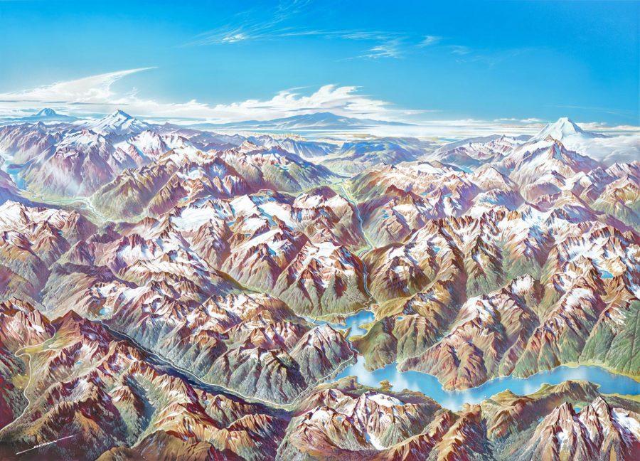 Download Beautiful Panoramic Paintings of U S  National