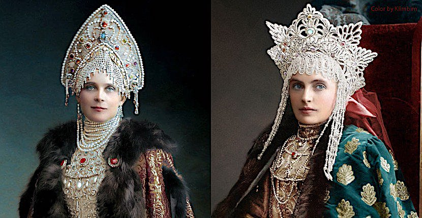 The Romanovs' Last Spectacular Ball Brought to Life in Color Photographs (1903)