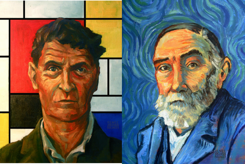 Philosopher Portraits: Famous Philosophers Painted in the Style of Influential Artists