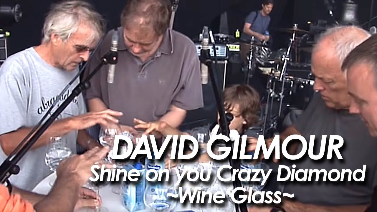 """David Gilmour Invites a Street Performer to Play Wine Glasses Onstage With Him In Venice: Hear Them Play """"Shine On You Crazy Diamond"""""""
