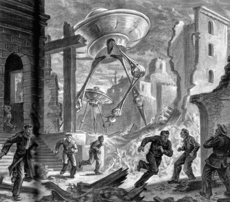Ray Harryhausen's Creepy War of the Worlds Sketches and Stop