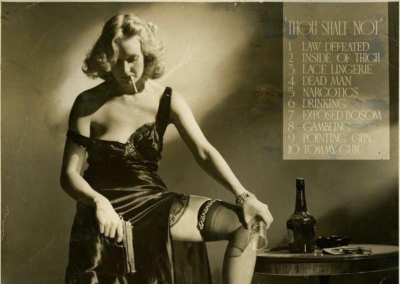 """Thou Shalt Not"": A 1940 Photo Satirically Mocks Every Vice & Sin Censored by the Hays Movie Censorship Code"