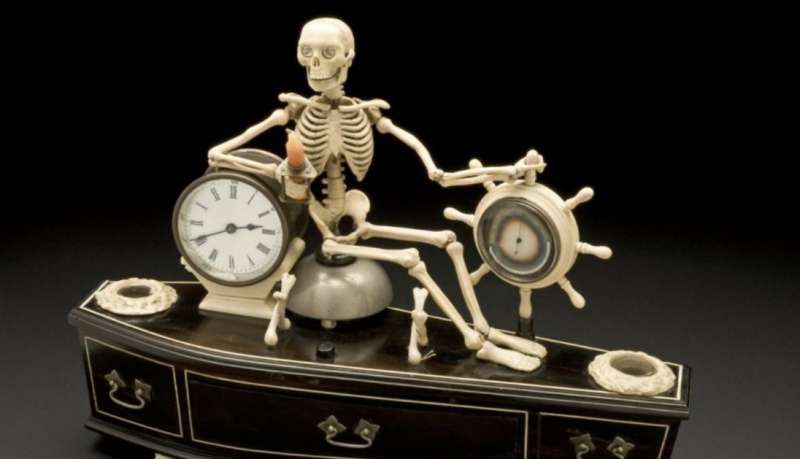 19th-Century Skeleton Alarm Clock Reminded People Daily of the Shortness of Life: An Introduction to the Memento Mori