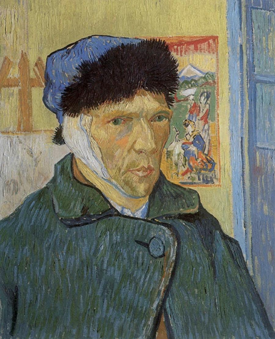 Self-portrait with bandaged ear - Vincent Van Gogh, 1889 Óleo sobre tela 50 x 60,5 cm