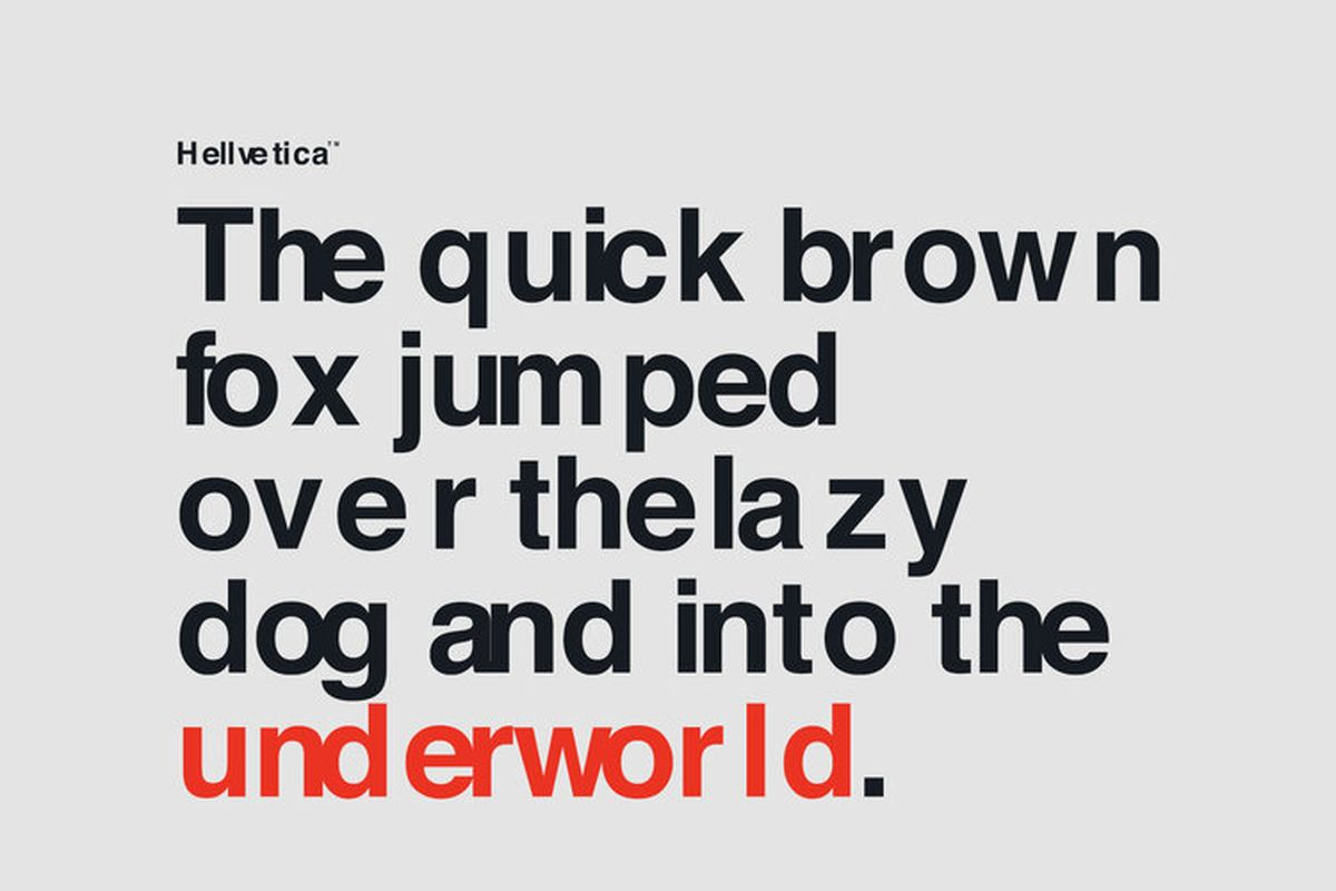Download Hellvetica, a Font that Makes the Elegant Spacing of Helvetica Look as Ugly as Possible