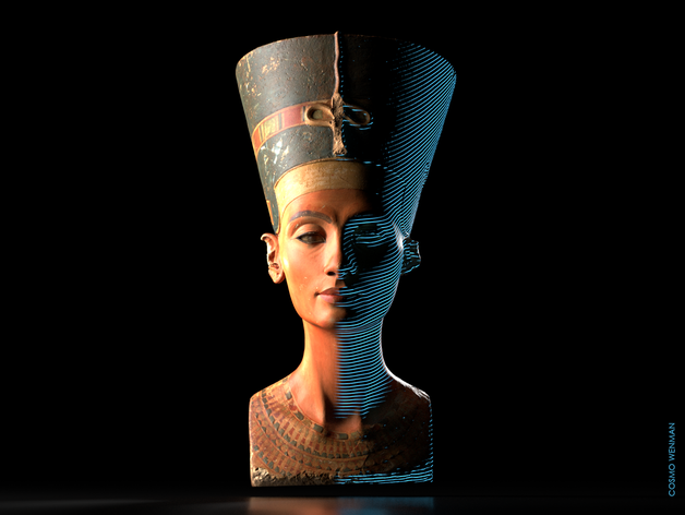 Download Stunning 3D Scans of the Bust of Nefertiti, Now Released by Berlin's Neues Museum