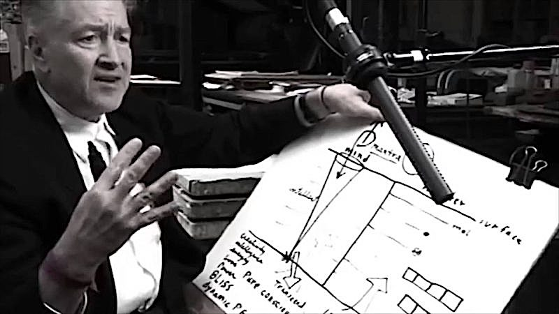 David Lynch Visualizes How Transcendental Meditation Works with Sharpie & Big Pad of Paper