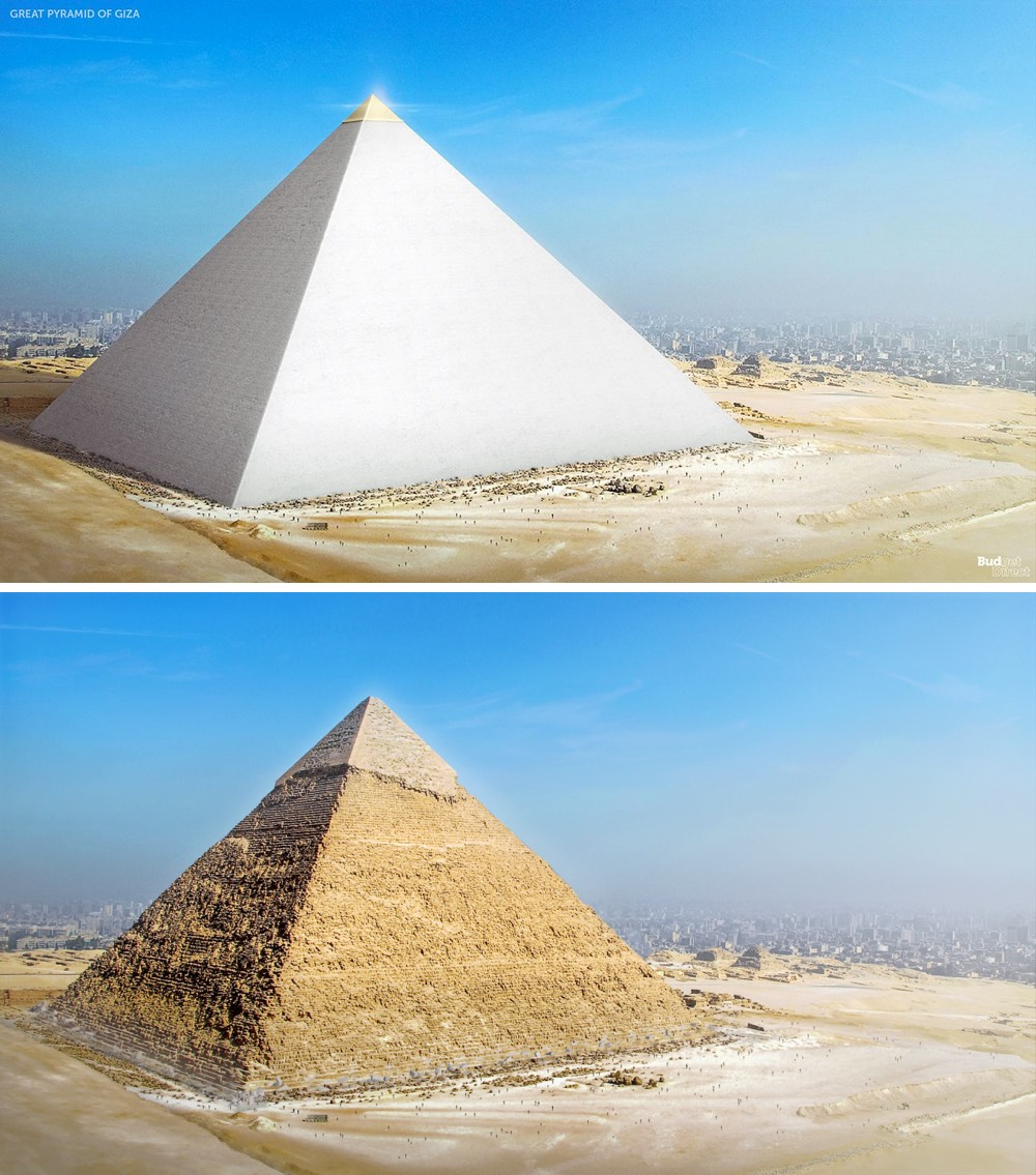 What The Great Pyramid Of Giza Would Ve Looked Like When First