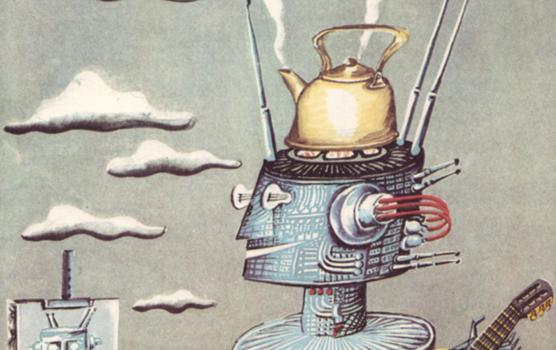 Illustrations from the Soviet Children's Book Your Name? Robot, Created by Tarkovsky Art Director Mikhail Romadin (1979)