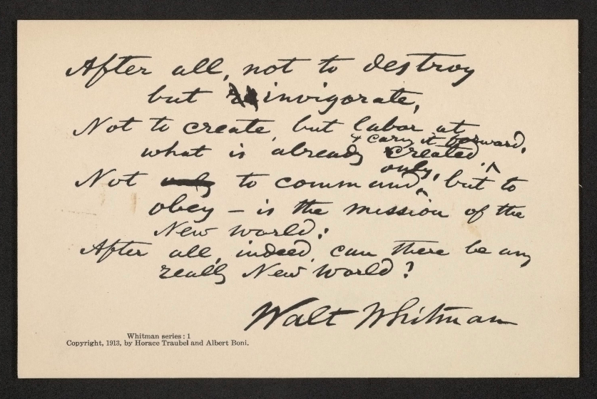 The Library of Congress Wants You to Help Transcribe Walt Whitman's Poems & Letters: Almost 4000 Unpublished Documents Are Waiting