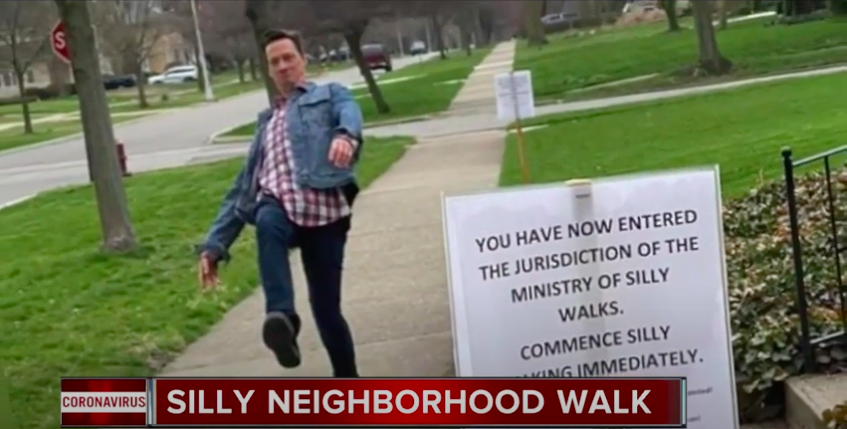 A Michigan Family Makes Everyone Passing Their House Do Monty Python Silly Walks, and Then Puts Recordings on Instagram