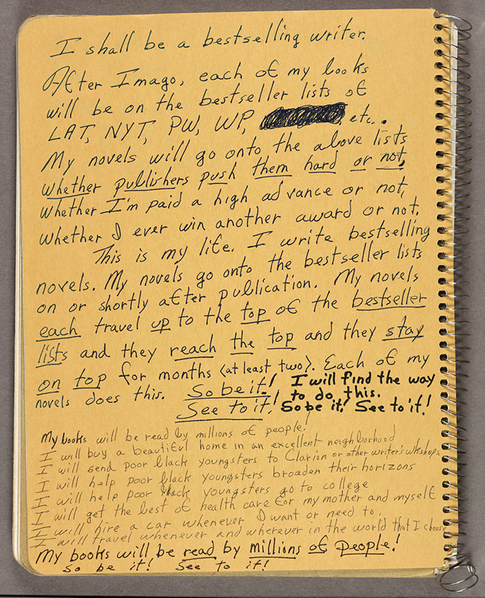 Behold Octavia Butler's Motivational Notes to Self 1