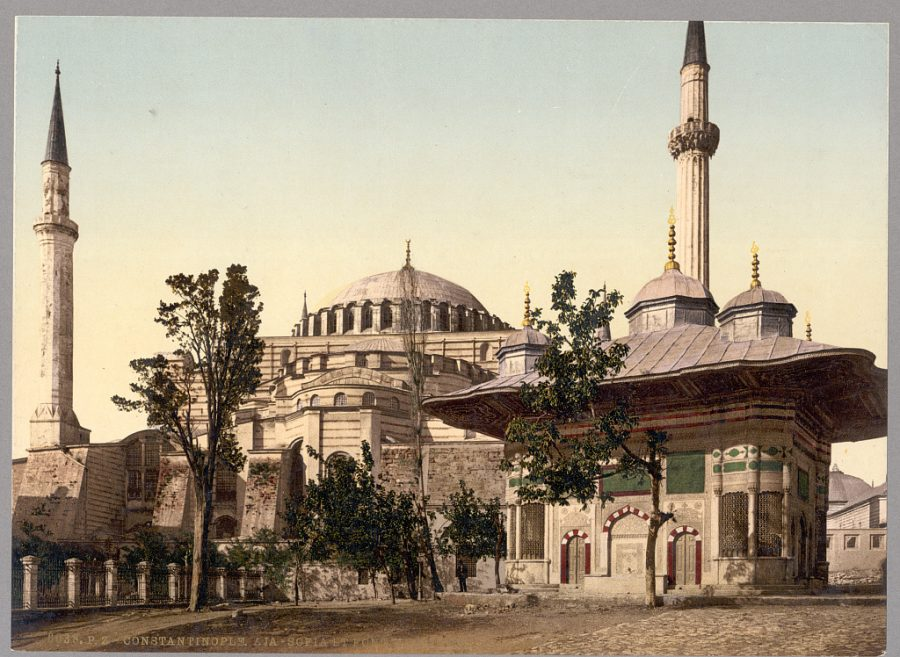 Istanbul Captured in Beautiful Color Images from 1890: The Hagia Sophia, Topkaki Palace's Imperial Gate & More