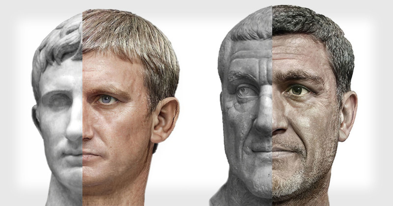 What Did the Roman Emperors Look Like?: See Photorealistic Portraits Created with Machine Learning