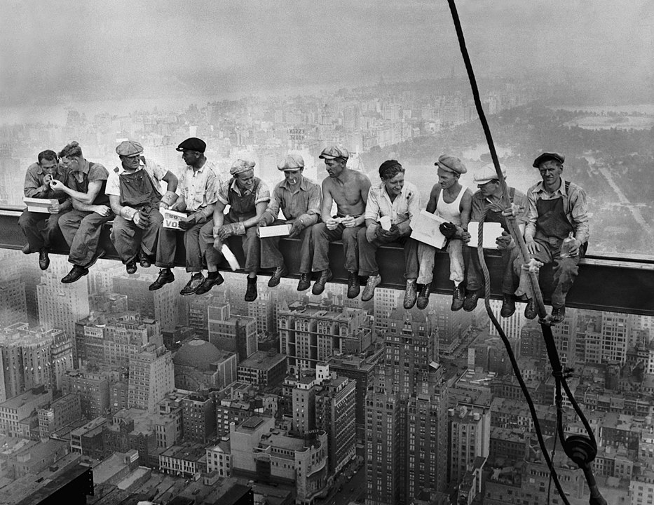 The Story Behind the Iconic Photograph of 11 Construction Workers Lunching 840 Feet Above New York City (1932)
