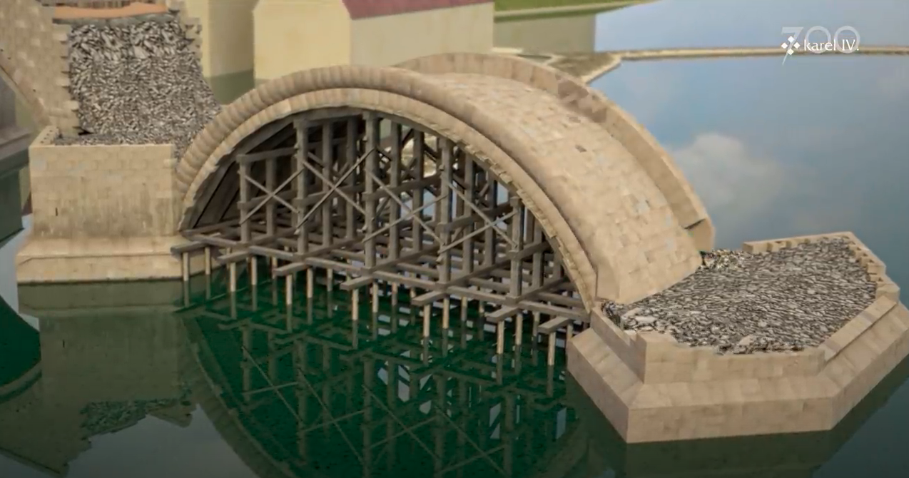 An Animated Video Shows the Building of a Medieval Bridge: 45 Years of Construction in 3 Minutes