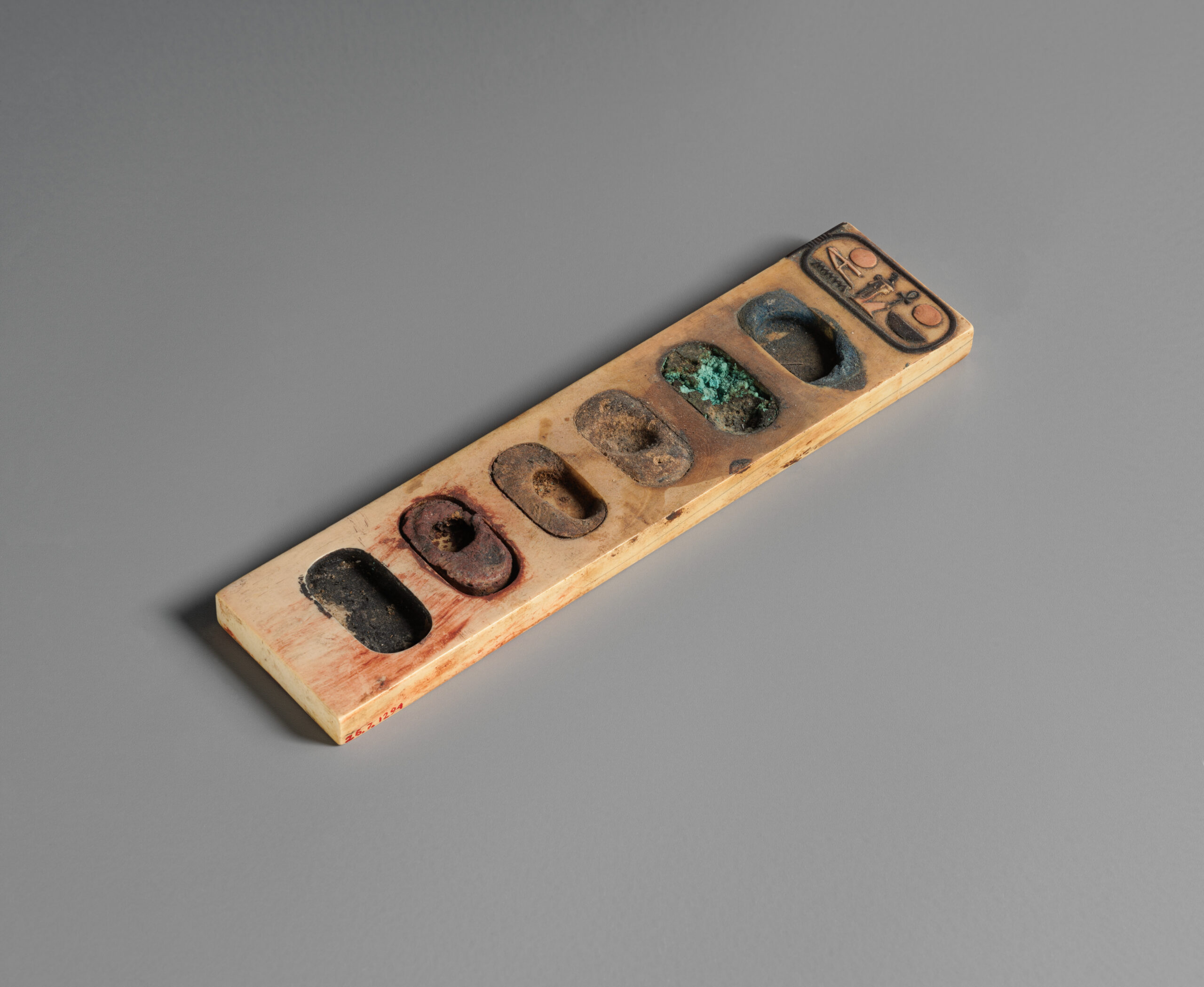 A 3,000-Year-Old Painter's Palette from Ancient Egypt, with Traces of the Original Colors Still In It