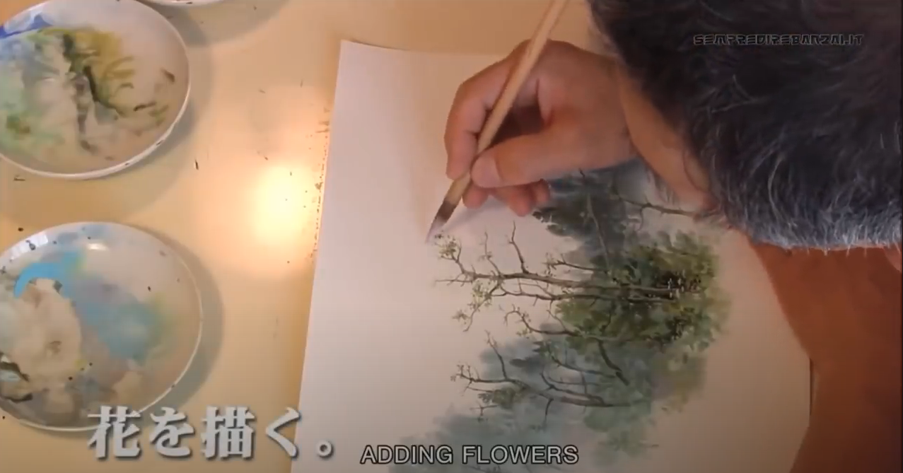 A Magical Look Inside the Painting Process of Studio Ghibli Artist Kazuo Oga