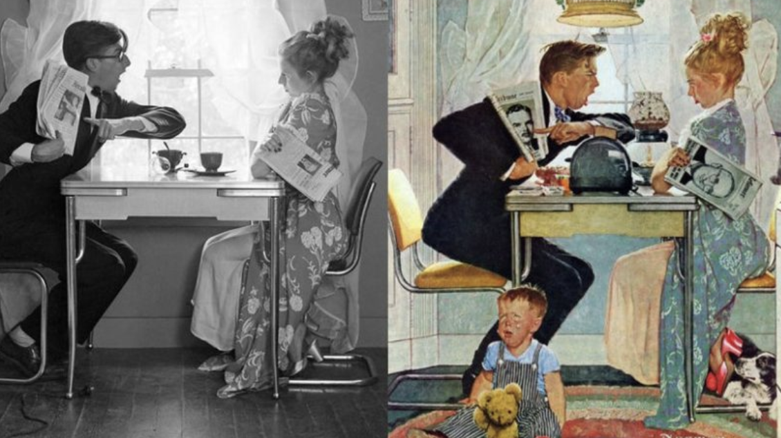 How Norman Rockwell Used Photographs to Create His Famous Paintings: See Side-by-Side Comparisons