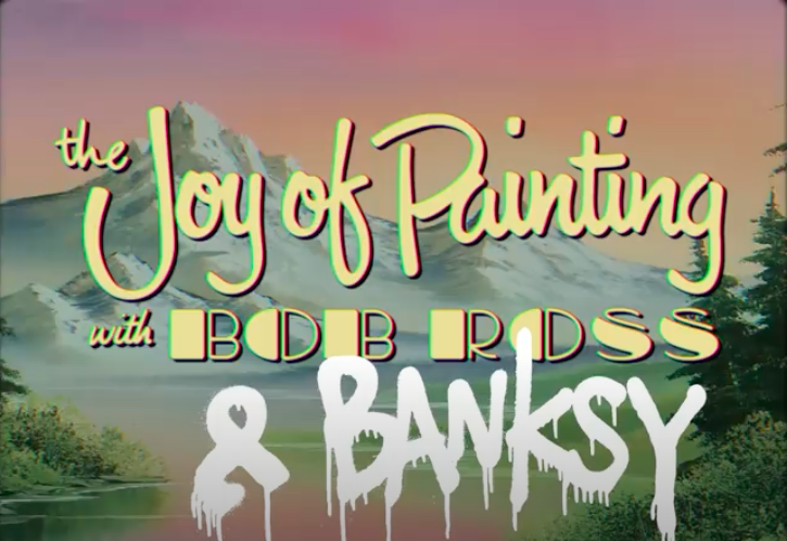 The Joy of Painting with Bob Ross & Banksy: Watch Banksy Paint a Mural on the Jail That Once Housed Oscar Wilde