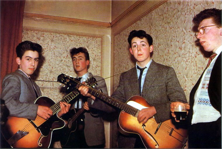 The Beatles As Teens 1957 Open Culture