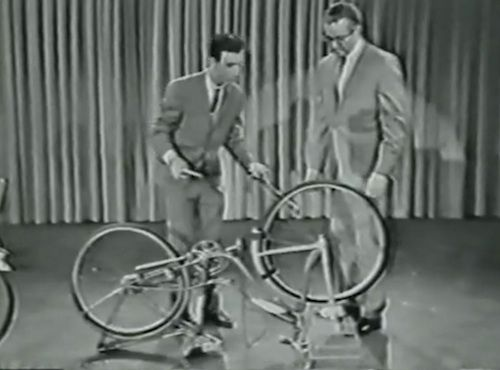 A Young Frank Zappa Turns the Bicycle into a Musical Instrument on The Steve Allen Show (1963)