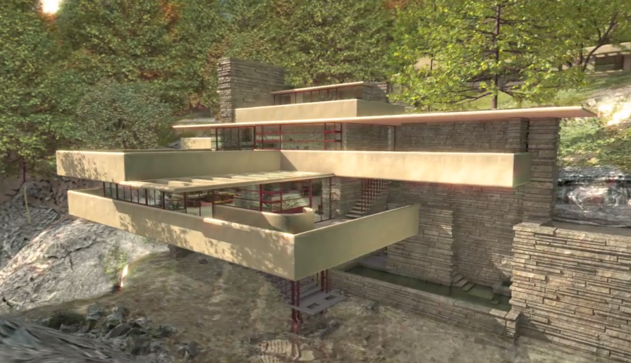 An Animated Tour of Fallingwater, One of Frank Lloyd Wright's Finest Creations
