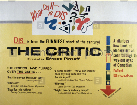 Image result for the critic mel brooks
