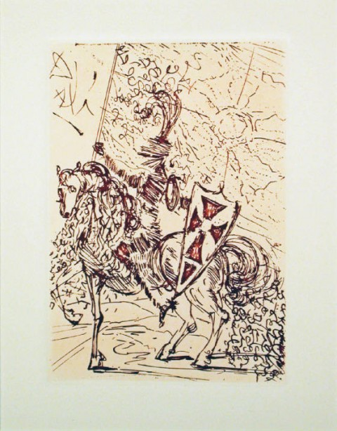 Salvador Dalí Sketches Five Spanish Immortals: Cervantes