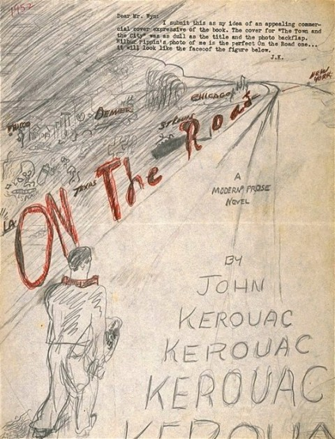 Jack kerouacs hand drawn cover for on the road open culture this falls under the category if you want it done right you have to do it yourself solutioingenieria Image collections