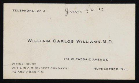The business card of william carlos williams doctor by day poet by there you have it the business card colourmoves