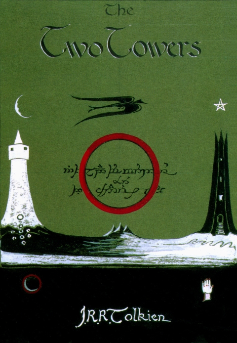 The Two Towers Book Cover by JRR Tolkien_1-480