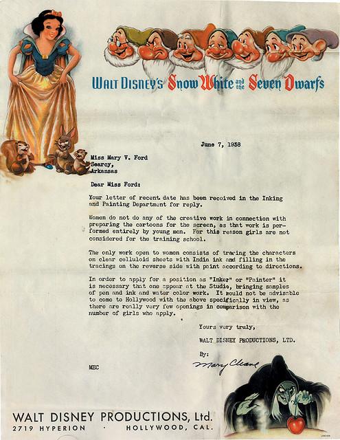 Disney Letter