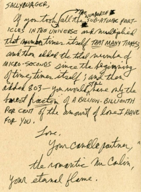 Love Letter To Your Wife.The Romantic George Carlin Writes A Nano Powered Sub Atomic Filled